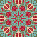 Floral pattern with pomegranates.