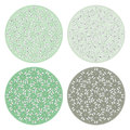 Floral pattern round backgrounds Royalty Free Stock Photo