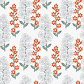 Floral pattern seamless with blue and red flowers Stock Photos