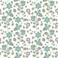 Floral pattern seamless decorative and leaves Royalty Free Stock Photography