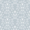 Floral pattern seamless light blue Stock Image