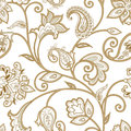 Floral pattern. Seamless oriental arabesque background. Tiled or