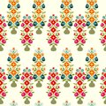 Floral pattern seamless with vases Stock Photo