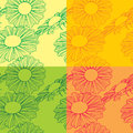 Floral pattern set of color Stock Image