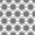 Floral pattern with stars Stock Photos