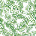 Floral pattern. Tropical palm leaves seamless summer background