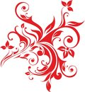 Floral pattern vector graphics cdr Royalty Free Stock Photo