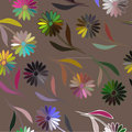 Floral pattern vector seamless vintage Royalty Free Stock Image