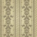Floral pattern. Wallpaper baroque, damask. Gold color