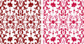 Floral patterns Stock Photography
