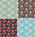 Floral patterns Royalty Free Stock Photos