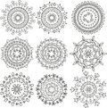 Floral patterns in the form mandala Royalty Free Stock Image