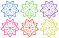 Floral patterns illustration of the on a white background Royalty Free Stock Photos