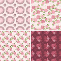 Floral Patterns and seamless backgrounds. Printing onto fabric Royalty Free Stock Photo