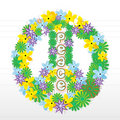 Floral peace sign Royalty Free Stock Image