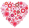 Floral pink Heart and butterfly Royalty Free Stock Photo