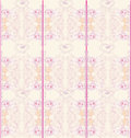 Floral pink seamless patterns Royalty Free Stock Photo