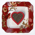 Floral plate with chia seed heart healthy on Stock Image