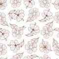 Floral print. Seamless pattern. Botanical