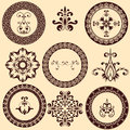 Floral Retro Design Elements Stock Images
