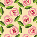 Floral retro seamless pattern Royalty Free Stock Images