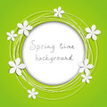 Floral round frame Royalty Free Stock Photography
