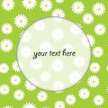 Floral round frame for message background vector eps Stock Photo