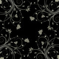 Floral scroll pattern Stock Photography