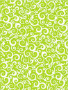 Floral scrolls pattern green background Royalty Free Stock Photo