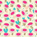 Floral seamless baby pattern camomiles delicate texture daisy bright background with flowers poppies Stock Photo