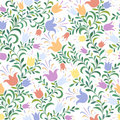 Floral seamless background Royalty Free Stock Photos