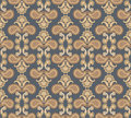 Floral seamless background abstract beige and brown floral geometric seamless texture vector lacy pattern on grey Royalty Free Stock Images