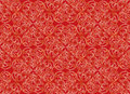 Floral seamless background abstract beige and brown floral geometric seamless texture vector lacy pattern on red Stock Photography