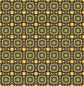 Floral seamless background. Abstract beige and green floral geometric Seamless Texture Stock Photos