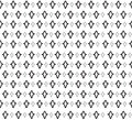 Floral seamless background abstract black and white floral geometric seamless texture vector textile tile pattern on light Royalty Free Stock Images