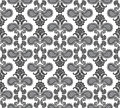 Floral seamless background abstract black and white floral geometric seamless texture vector textile tile pattern on light Royalty Free Stock Image
