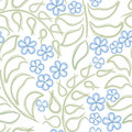 Floral seamless background abstract ornament geometric texture flower forget me not gentle carpet illustration over white pattern Royalty Free Stock Photo