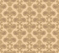 Floral seamless background abstract ornament geometric texture flower ornamental carpet illustration over beige pattern with Royalty Free Stock Image