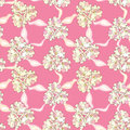 Floral seamless background abstract pink beige and white floral geometric seamless texture vector textile tile pattern on light Stock Photo