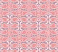 Floral seamless background abstract pink and white floral geometric seamless texture vector textile tile pattern on light ornament Royalty Free Stock Images