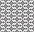 Floral seamless background abstract white and black floral geometric seamless texture vector lacy pattern on Royalty Free Stock Photo