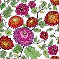 Floral seamless background. Decorative flower pattern. Floral se