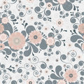 Floral seamless background of elegant colors. Stock Images
