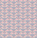 Floral seamless background. flower fan pattern. Royalty Free Stock Images