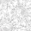 Floral seamless background. flower pattern. Flourish wallpaper Royalty Free Stock Photo