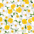 Floral seamless background gentle flower pattern flowers texture with flowers vector graphic Stock Photo