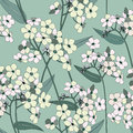 Floral seamless background gentle flower pattern forget me not bouquets texture with flowers Stock Photography