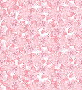 Floral seamless background gentle flower pattern lasy nature autumn texture Royalty Free Stock Photography