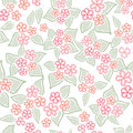 Floral seamless background gentle flower pattern nature pastel white texture with spring bouquets Royalty Free Stock Photo