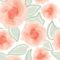 Floral seamless background gentle flower pattern nature pastel white texture with spring bouquets Stock Images